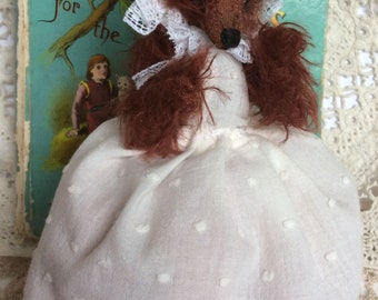 Topsy Turvy doll  Little red riding hood and the wolf