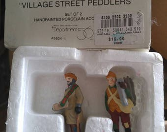 DEPT.56 Two Peddlers Retired #5304 from The Heritage Collection New in Box