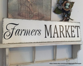 KITCHEN SIGNS, Farmers MARKET Signs, Fixer Upper Style Sign, Farm Signs,  32 x 8.5