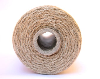 12 Ply Jute Bakers Twine 100 yard spool 12 Ply Thick Cotton String- Birthday Baby Shower Wedding