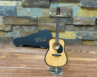 Personalized Miniature Guitar - Acoustic String Guitar- Music Gift- Instrument  (CGN18)