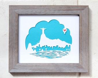 "Rio De Janeiro  11x14""- Personalized Gift or Wedding Gift"