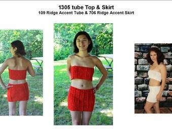 Crocheted Ridge Accent Tube Top and Ridge Accent Skirt     1309  109/706