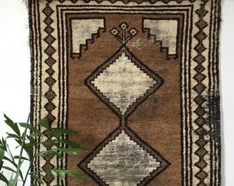 1970s neutral gabbeh rug