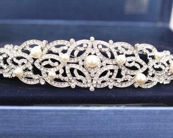 Wedding headband pearl wedding hair accessories bridal headband wedding headpiece bridal hair accessories Wedding tiara bridal crown wedding