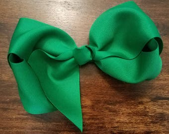 Large Dark Green Bow