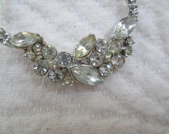 Vintage Rhinestone Necklace Wedding Party Special Occasion
