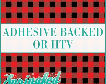 Red Buffalo Plaid Pattern Adhesive Vinyl or HTV Heat Transfer Vinyl for Shirts Crafts and More!
