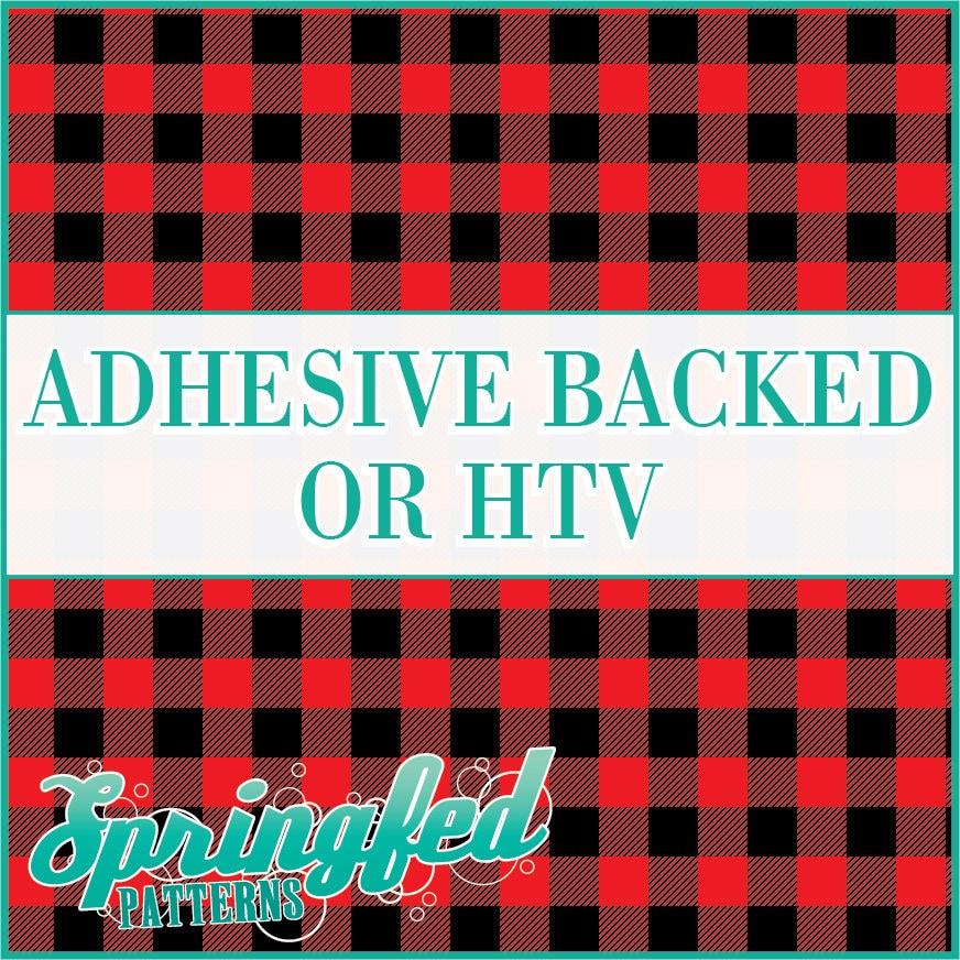 Red Buffalo Plaid Pattern Adhesive Vinyl Or Htv Heat Transfer