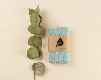 Clean Clean Dishcloth | Facecloth | Flannel in mint green