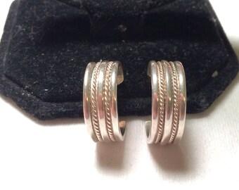 925 mexico sterling sliver hoop earring loop earrings
