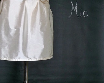 Duiponi Silk - MINI Skirt - Pick your own Color - Made in ANY Size - Boutique Mia