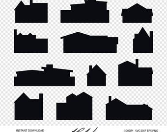 House Digital Cut Files - Digital Files - House SVG - House DXF - Home EPS - House png - Home svg - House Shapes - House silhouette svg, dxf