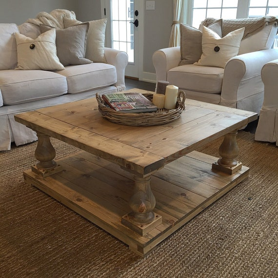 Square Cottage Style Coffee Table