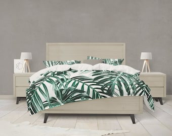 Tropical Leaf forest green Bedding