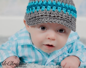 Baby Boy Hat, Crochet Hat, Newsboy Hat, Baby Hat, Coming Home Outfit, Newborn Hat, Newborn Photo Prop, Baby Beanie, Take Home Outfit