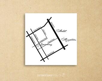 Custom Map | Wedding | Printable Digital File