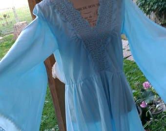 Vintage Blue Sky nightgown chic shabby chic wedding dress romantic woman fashion wedding