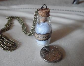Cobwebs Apothecary Jar Necklace