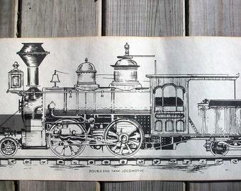 Vintage Locomotive Train Engines Large Prints set of 4 Different Locomotives