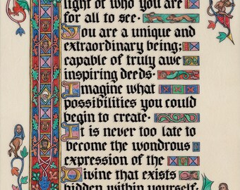 Believe in yourself Illumination by Tania Crossingham