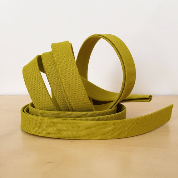 "Bias Tape in Kona Pickle cotton 1/2"" double-fold binding- Chartreuse Green- 3 yard roll"