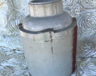 Vintage Crock Clay Stoneware Crock Jug
