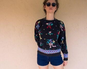 Vintage Saks Fifth Avenue Knit Sweater Jumper-Small/Medium