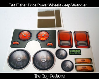 Generic : New Replacement Decals Stickers for Fisher Price Power Wheels Jeep Wrangler / Rubicon