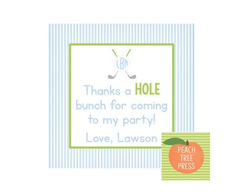 Party Printable Favor Card {Hole in ONE Golf Theme}