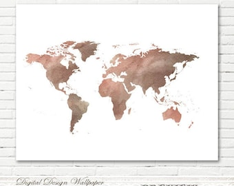World map wall art etsy watercolor world mapworld map watercolorprintable watercolor world mapworld map artworld map wall artinstant download watercolor gumiabroncs Images