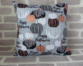 Happy Halloween cushion cover, Halloween decor, Halloween home decor, Happy Halloween, Pumpkin cushion cover, cushion cover, Halloween gift