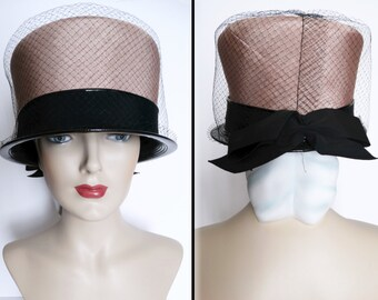 Vintage 1950s Hat//50s Hat//Kelton Original//New Look//Rockabilly//Mod//Designer//Glamorous//