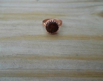Pietersite Cabochon Adjustable Ring