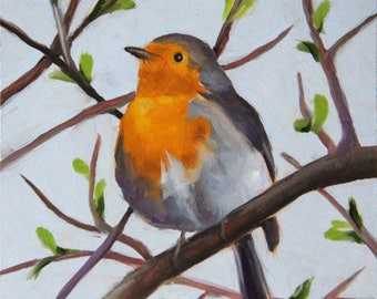 Bird, Original oil painting, Bird art