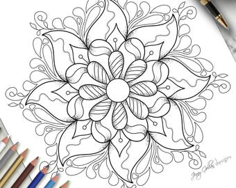 Printable Colouring Page Frilly