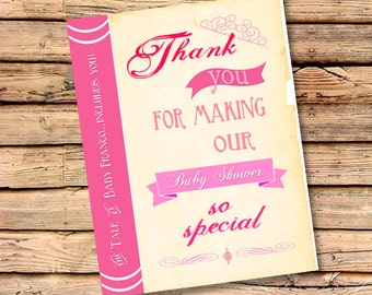 Once Upon A Time Thank You Cards | Free Custom Color | Matching Cards to Invite | Personalized Thank You's | Baby Shower Thanks (Set of 10)