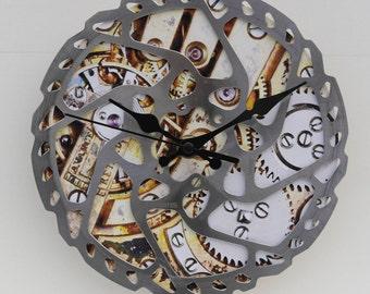 Cycleclock Bike clock Recycled bike clock Bike disc clock Gift