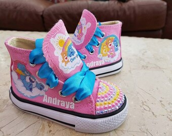 Custom Canvas Care Bear Shoes High Tops Personalised Sneakers Pumps