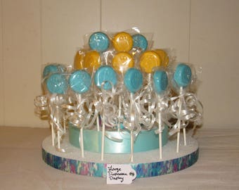 Made to Order Chocolate Lollipops with Box or Round Display