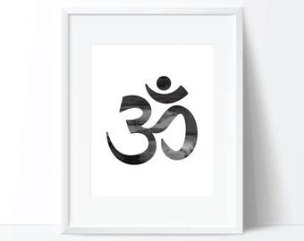 OM Print, Zen Print, Spiritual Print, Yoga Print, Boho Print, Spiritual Art, OM Art, Zen Art, Boho Art, OM Digital Print, Om Printable