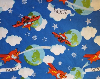 Zoom Zoom Airplanes Cotton Fabric sold by the yard