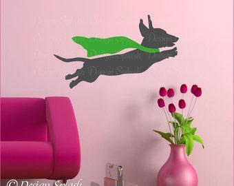 Dachshund Decal, Weiner Dog Sticker, Animal Wall Art, Dog Lover Gift A-117A-S