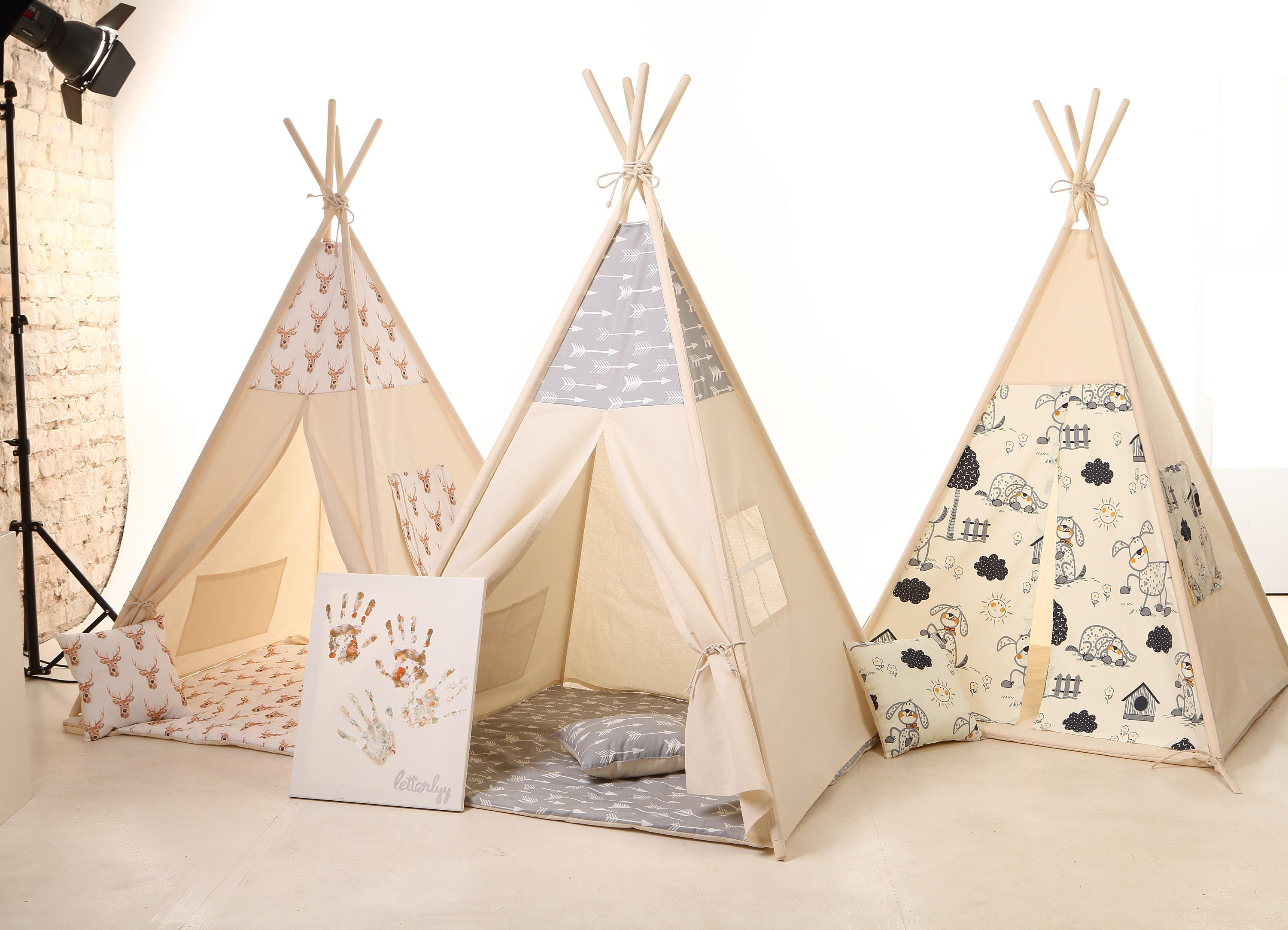 ?zoom  sc 1 st  Etsy & Teepee Tent For Kids Teepee Childrens Teepee Kids Tent