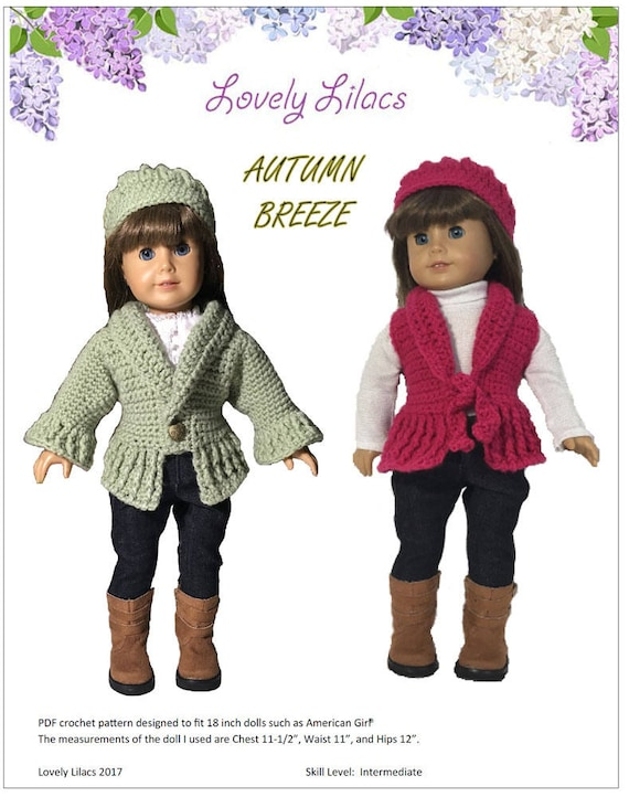 Autumn Breeze Shrug and Hat Crochet Pattern