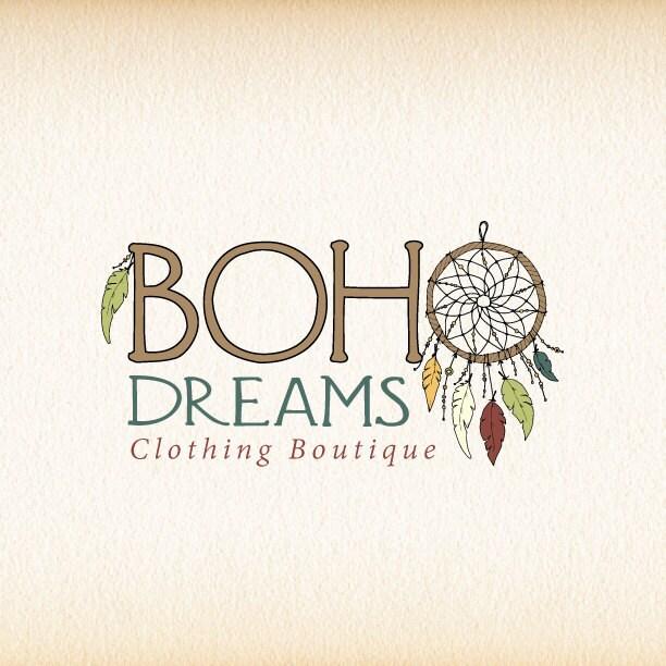 Dreamcatcher Logo Boho Bohemian Feathers