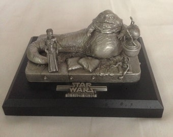 Jabba the Hutt on Throne Limited Edition Pewter Figurine by Rawcliffe