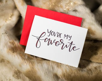 You're My Favorite by stonedonut - valentines card - handmade card - cute valentine - fun valentine - valentine for him - valentine for her