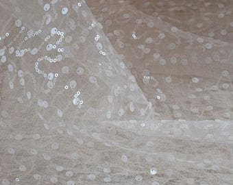 3yard Ultra-high quality off white wedding dress mesh lace fabric,shoulder,sleeve mesh lace fabric