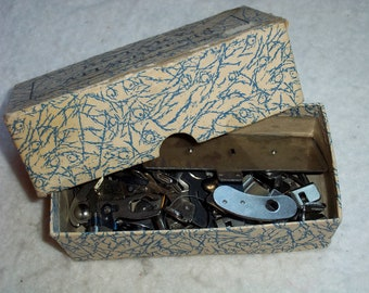 Box of  16 Vintage Sewing Machine Attachments